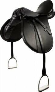 PFIFF VS-zadel 'Beauty' inclusief stijgbeugels 120 Zwart